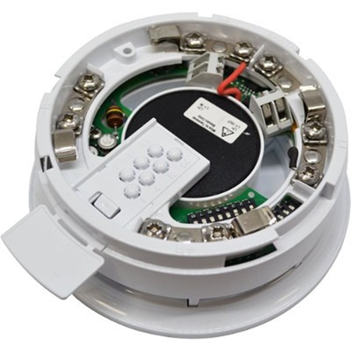 Apollo-Integrated base sounder, white, IP21, with isolator