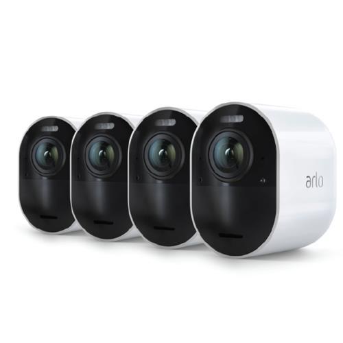 Arlo Ultra 4K Wireless White Spotlight 4 Camera Kit